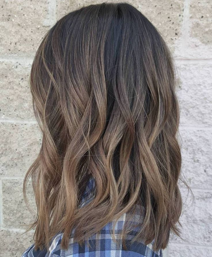 Ash Brown Balayage Ombre                                                                                                                                                                                 Plus