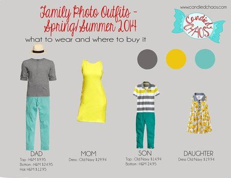Spring/Summer Photo Outfits 2014 - What to Wear and Where to Buy it. See the full blog post here: http://www.candiedchaos.com/2014/03/springsummer-2014-family-photo-outfits-what-to-wear-and-where-to-buy-it/