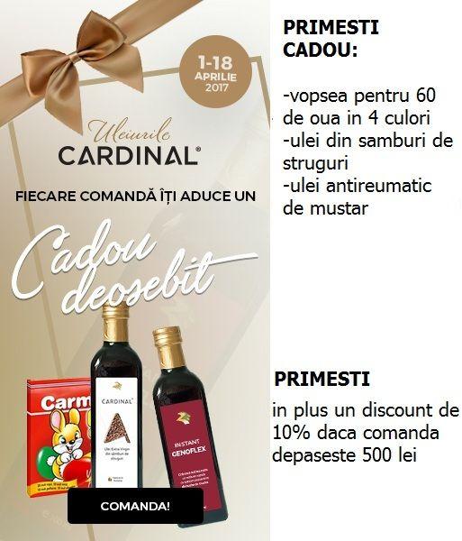 promotie pe blog Detalii despre promotie si pe www.uleicardinal.ro/shop/