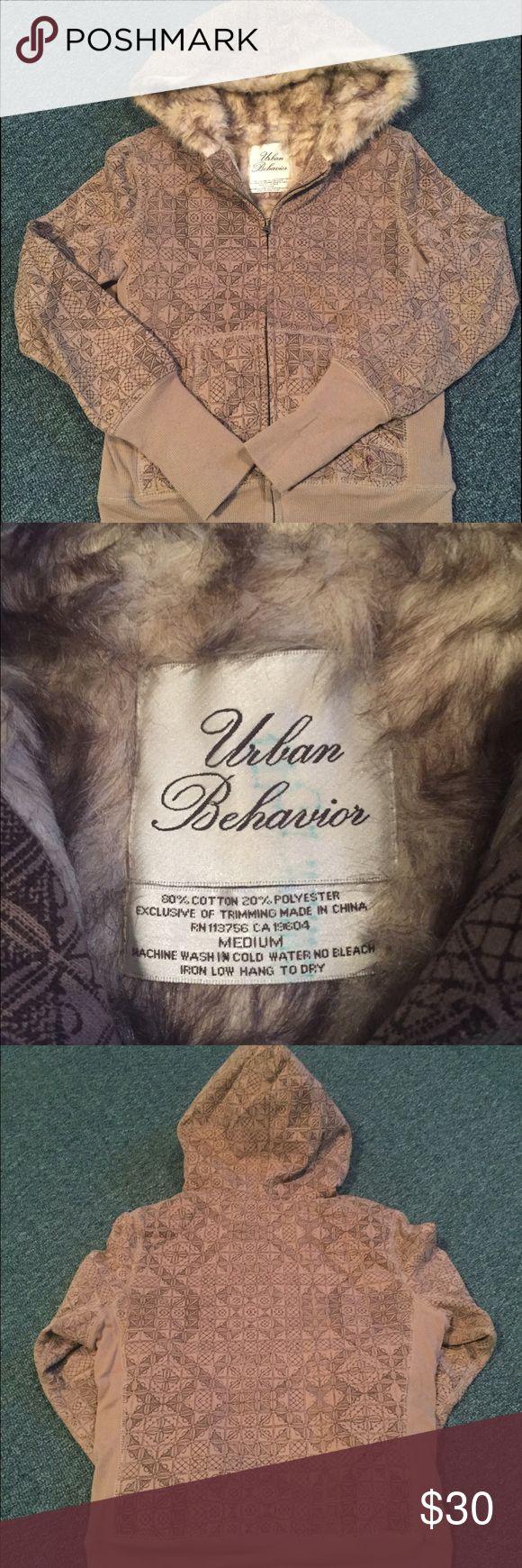 Urban Behavior Faux Fur Medium Brown Hoodie Urban Behavior Faux Fur Medium Brown Hoodie - Super cute and cozy! Urban Behavior Tops Sweatshirts & Hoodies