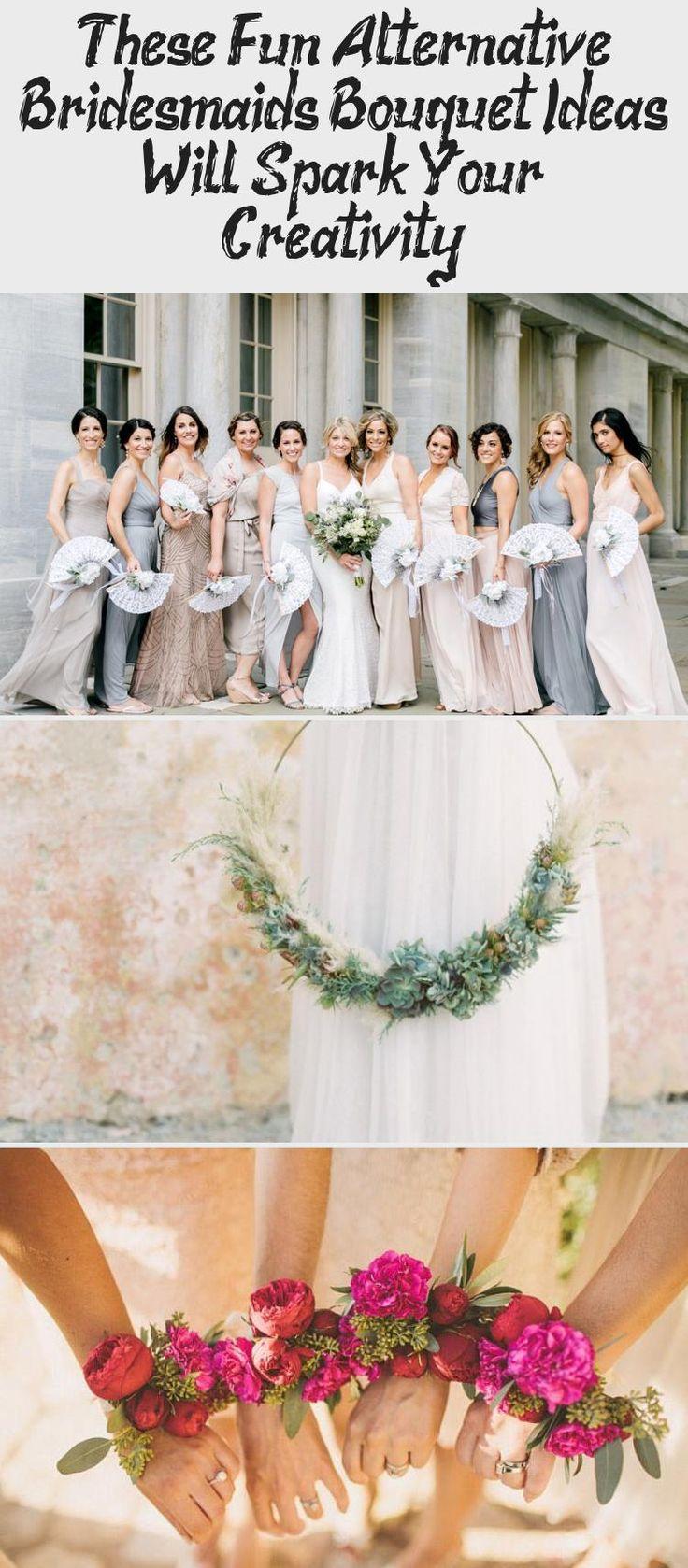 These Fun Alternative Bridesmaids Bouquet Ideas Will Spark Your Creativity! - Green Wedding Shoes #DavidsBridalBridesmaidDresses #AfricanBridesmaidDresses #BridesmaidDressesTeaLength #TanBridesmaidDresses #BlackBridesmaidDresses