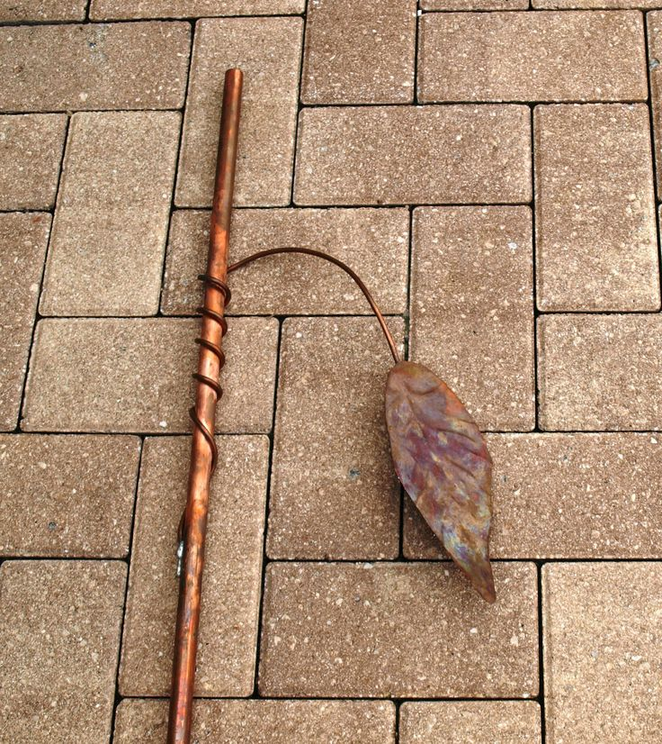 Copper stem leaves for Glass Plate Flowers pipe