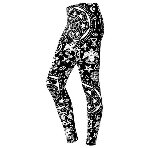 Our Classic Occult print, for your Legs. slim fitted leggings in