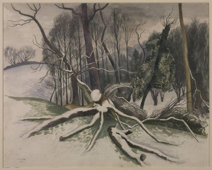 John Nash 'Fallen Tree', 1955 © Estate of John Nash. All Rights Reserved 2010 / Bridgeman Art Library