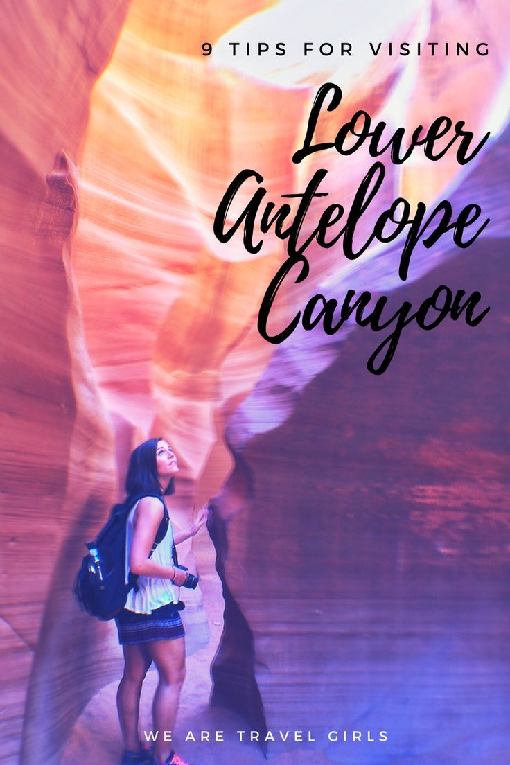 9 TIPS FOR VISITING LOWER ANTELOPE CANYON - While it feels much more Mars than middle America, Lower Antelope Canyon is a quick, easy, and unforgettable adventure in Page, Arizona. It's a little over two hours from the Grand Canyon, and an easy stop on the way to Zion or back to Las Vegas.  If you're planning a trip out to Lower Antelope Canyon, here are 9 things to keep in mind before you go. By Stephanie Vermillion for http://WeAreTravelGirls.com