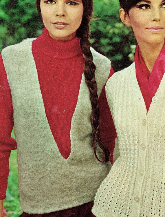 PDF Vintage Womens Ladies Knitting Pattern Tank Top Polo 1960s