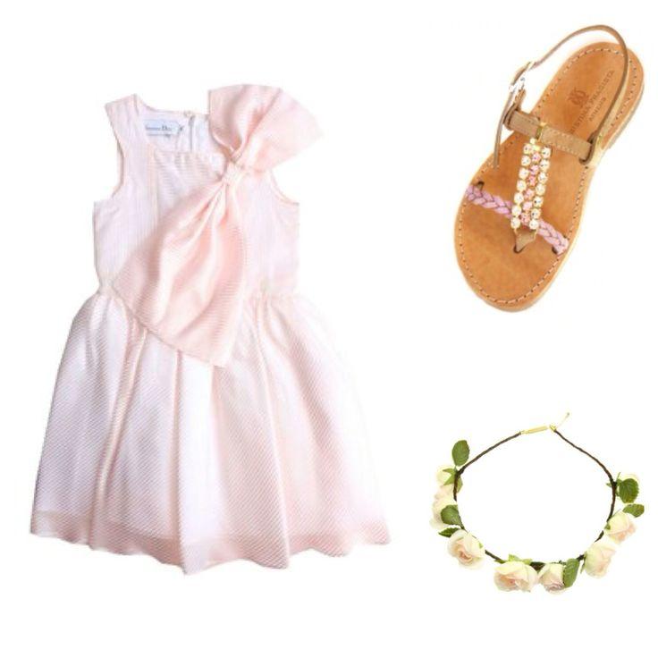 "Christina Fragista ""Dragia Pink"" Sandal for Little Girls"