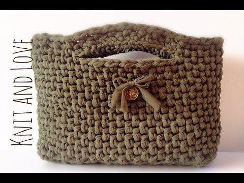 Tutorial punto spiga o punto Sery | Fondo pronto per borse| DIY crochet|bolsos en trapillo - YouTube