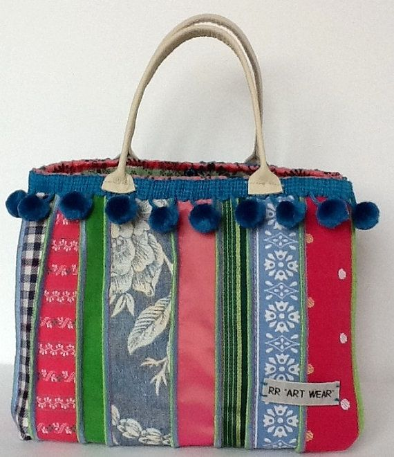 Morning jewel textile handbag, pastel colours on Etsy, £125.00