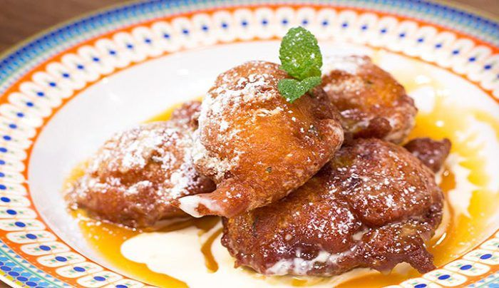 Pumpkin Fritters with Caramel Sauce - Good Chef Bad Chef