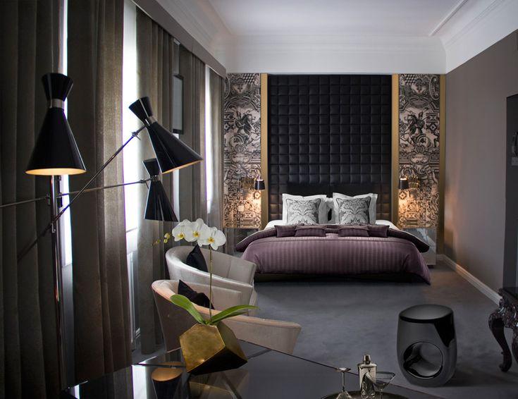 Kto powiedział, że ciemne barwy przytłaczają i na pewno nie pasują do sypialni?