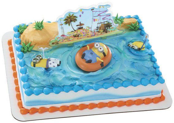 Despicable Me 2 Beach Party cake favors