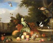 Still-Life of Fruit and Birds  by Tobias Stranover