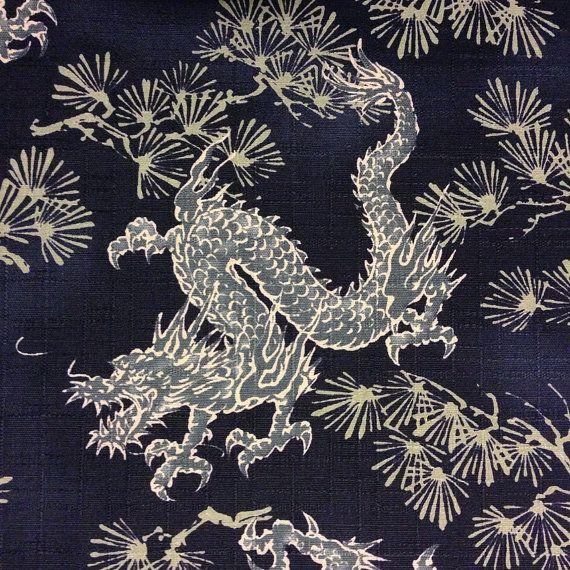 Vintage Japanese yukata indigo cotton Mega Chain by