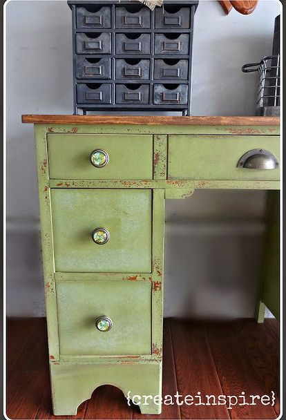 Refinished Small Antique Desk