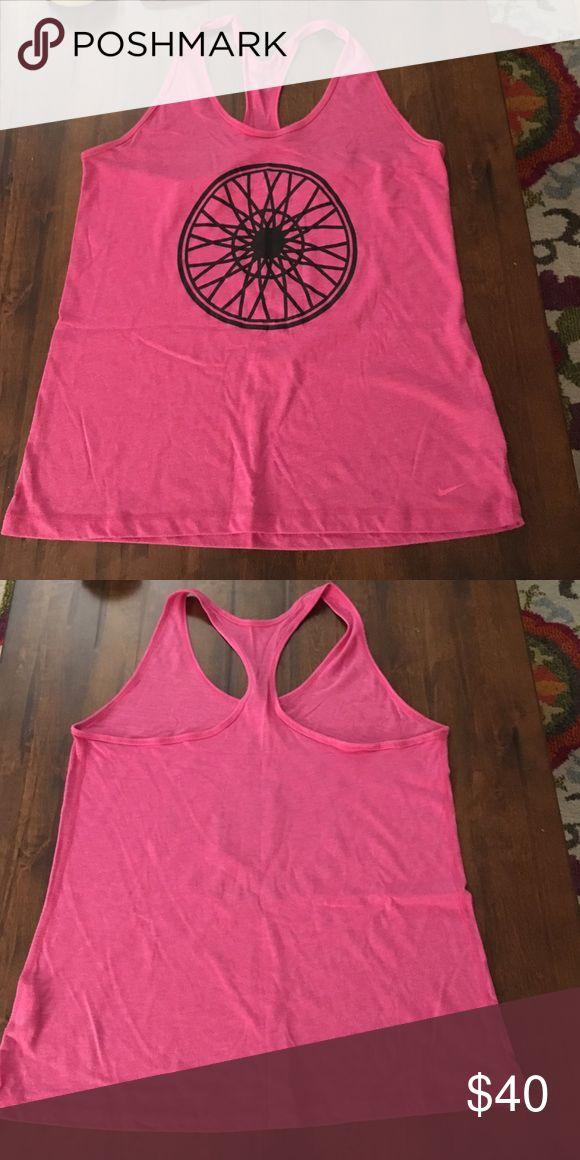 Pink Nike dri fit SoulCycle tank Pink Nike dri fit SoulCycle tank. No wear or tear - looks brand new. Size large. Nike Tops Muscle Tees