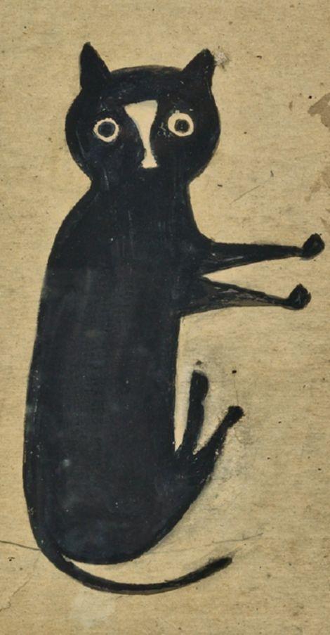 """Bill Traylor (1853-1949), """"Black Cat."""""""