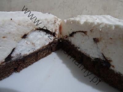 """www.ciastamamy.pl: Ciasto z ciepłymi lodami """"Pawi ogon"""""""