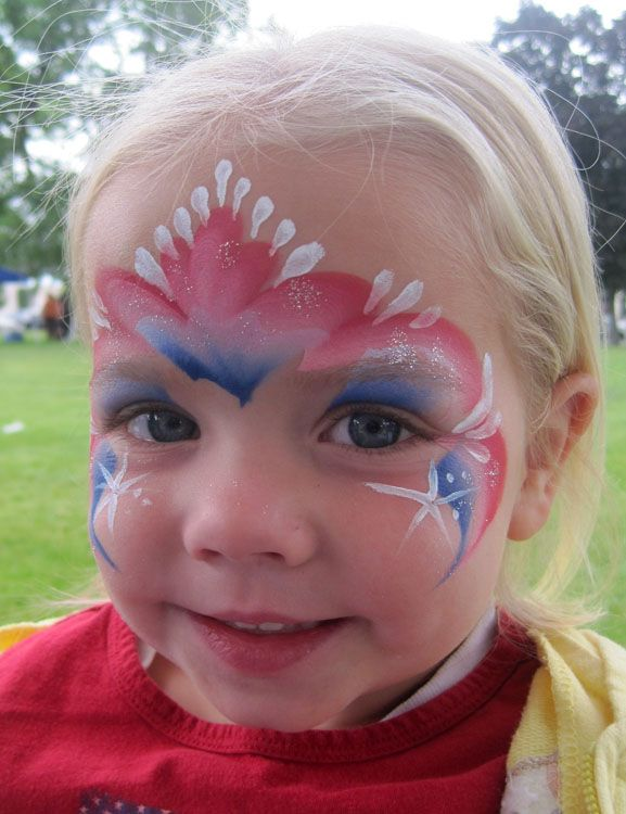 4th of july painted faces | have for the past couple of years Painted at Hyrum City's 4th of July ...