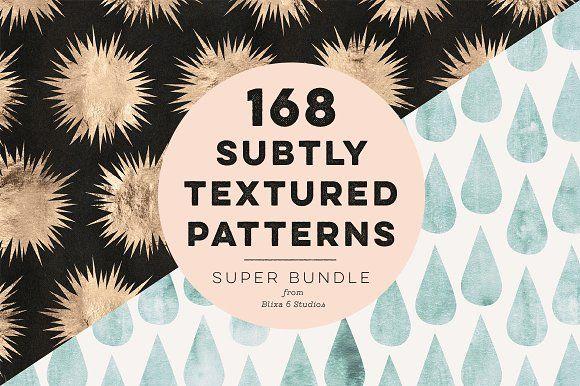 168 Subtly Textured Patterns Bundle by Blixa 6 Studios on @creativemarket