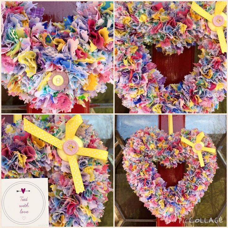 Spring colours heart wreath £15 plus postage www.facebook.com/tiedwithlovewreaths #htlmp #ukhandmade