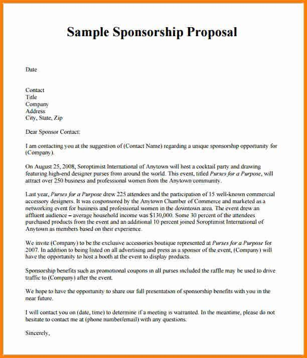 Corporate Sponsorship Proposal Template Awesome Template For