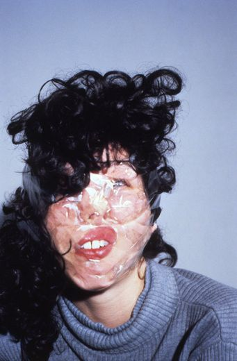 Gillian Wearing. 'Confess All On Video. Don't Worry, You Will Be In Disguise. Intrigued? Call Gillian.'