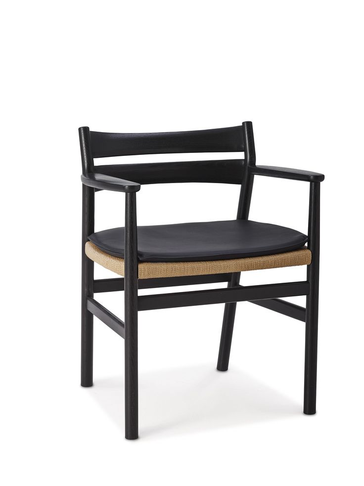 BM2 Chair by dk3. #Børge #Mogensen #BM2 #Chair #dk3 #Blackstained #Oak #Cushion #Danish #Design #Furniture #Classic www.dk3.dk
