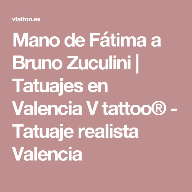 Mano de Fátima a Bruno Zuculini | Tatuajes en Valencia V tattoo® - Tatuaje realista Valencia