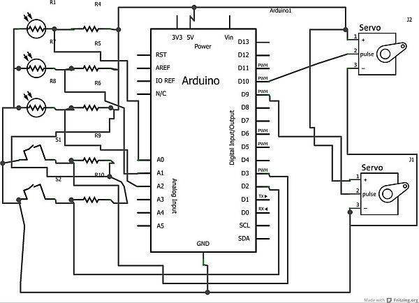 servo solar tracker Schematic Solar tracker, Solar