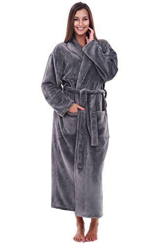 Del Rossa Women's Fleece Robe, Long Bathrobe: Amazon.ca: Clothing & Accessories