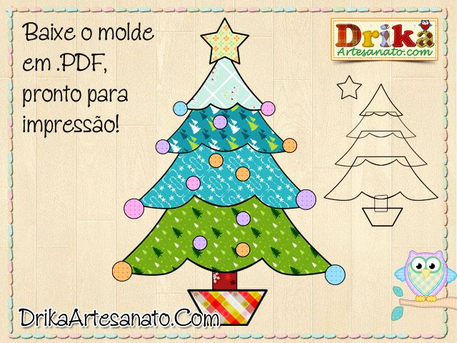 Artesanato de Natal: moldes - Drika Artesanato