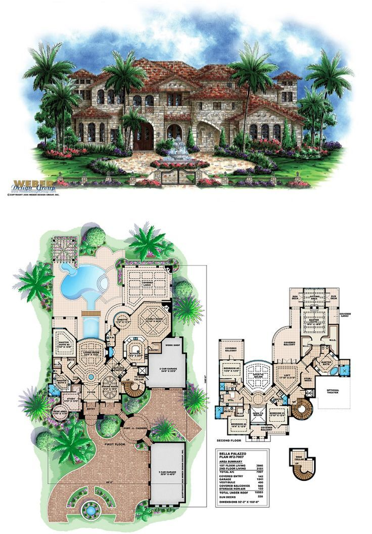 Luxury House Plan Andalusian Castle Home Floor Plan With Tuscan Style Mediterranean Homes House Floor Plans Mansion Floor Plan