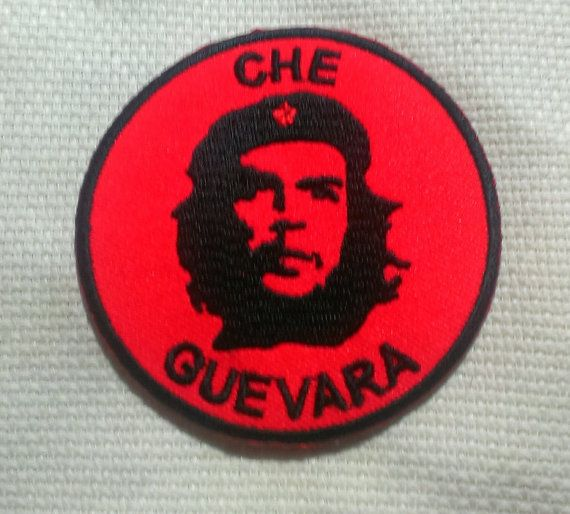 Iron On Che Quevara Embroidered Patch 3'' by LostThenFoundPatches