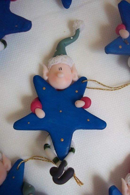 duende estrella navidad porcelana fria