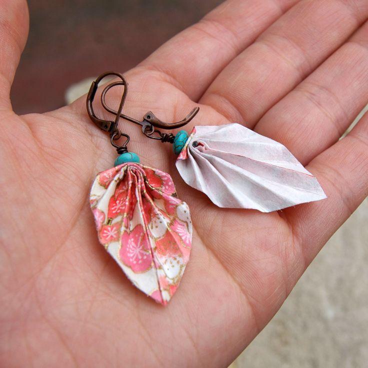 yuzen chiyogami paper earrings