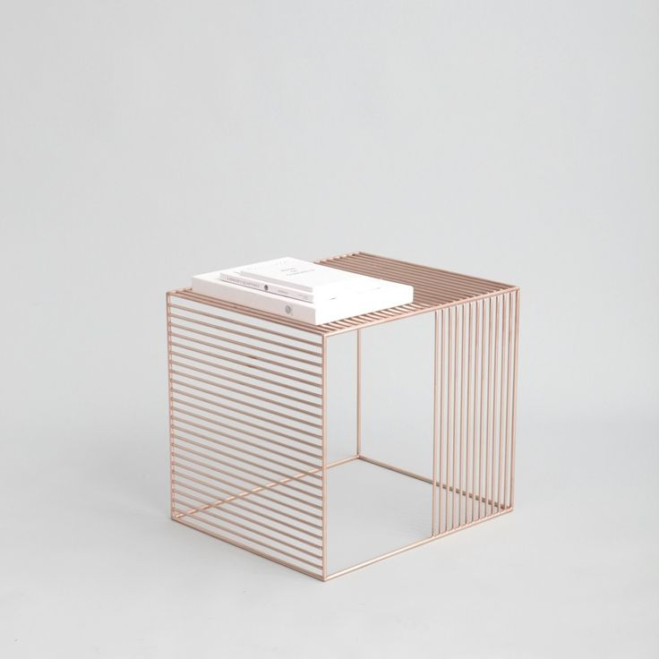 Contemporary Wire Side Table by Iacoli & McAllister - http://www.adelto.co.uk/stylish-wire-side-table-by-iacoli-mcallister