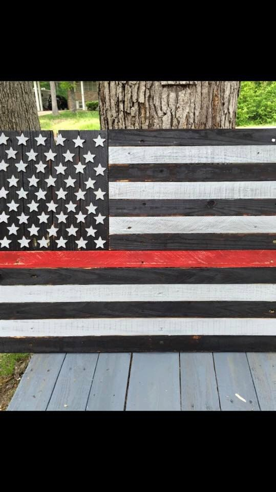 Pin By Dot Webb On Fire Department Pallet Flag