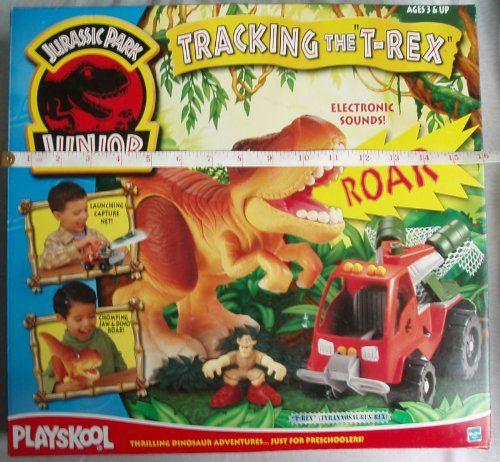 Jurassic Park Junior Playskool Tracking the T-Rex playset (inc. Tyrannosaurus Rex Dino capture vehi @ niftywarehouse.com #NiftyWarehouse #JurassicPark #Jurassic #Dinosaurs #Film #Dinosaur #Movies