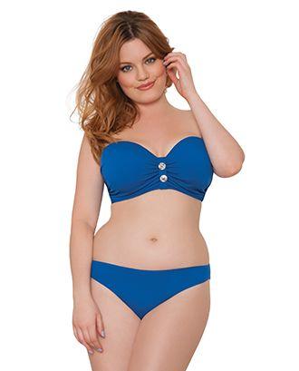 Luau Love Bandeau Deep Sea - bikini sin tirantes, impriscindible si no quieres tener marcas de tirante.  Disponible hasta copa O, dependiendo del contorno.  Contornos 75-100