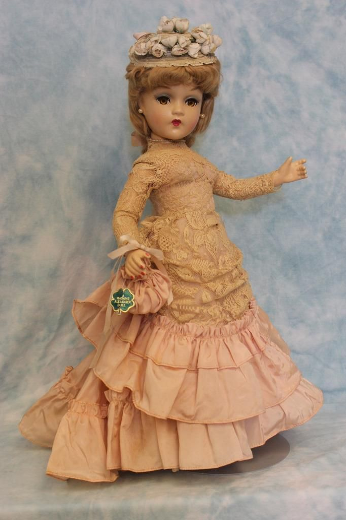 "This is a beautiful Madame Alexander ""Godey Lady"" by Madame Alexander. She is an early Portrait doll by Madame Alexander. She was documented in 1938 catalogs and then was documented again in 1946. This doll is in good condition - see photos. 