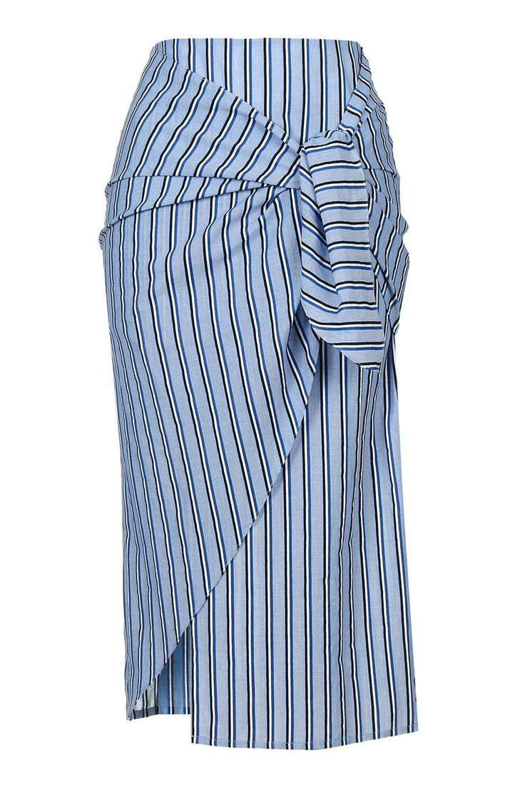 Stripe Tie Front Skirt by Boutique - Topshop USA
