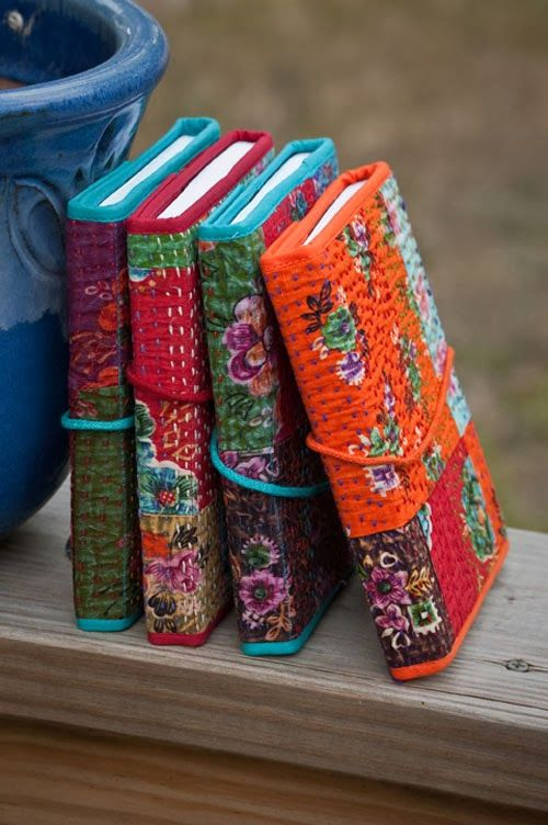 Books covered with kantha. Once Upon A Tea Time.... Design Stories: Holiday Gift Ideas.2/ Support the Artisan Project: Noonday Collection