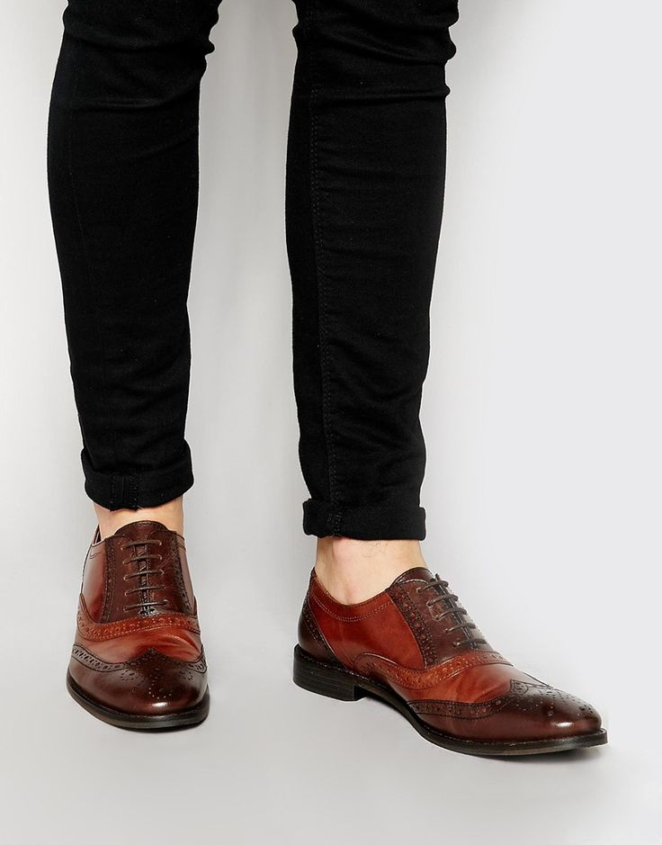 Brogue Shoes in Tan Polished Leather - Tan Asos BsPHqMFOg