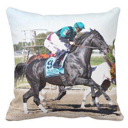 Just Call Kenny Throw Pillow - horse animal horses riding freedom