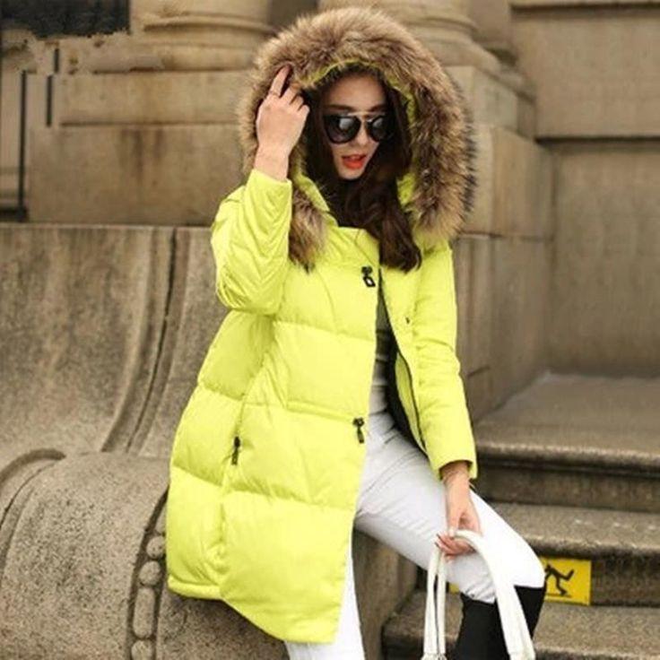 >> Click to Buy << Parka Hooded Winter Jacket  New Women Coats Jackets Women Fur Collar Winter Coat Female Zipper Jacket #Affiliate