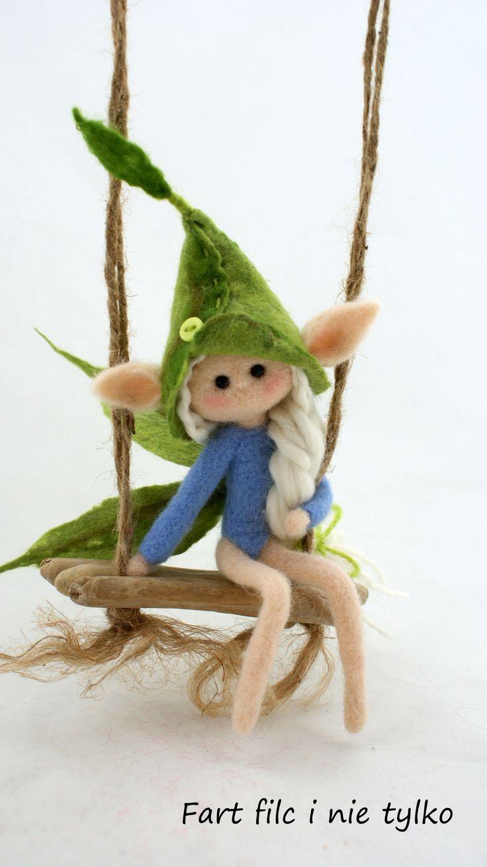 Elf :) #dolls #filc #polandhandmade #felt #ooak #teddybear #fartfilcinietylko #fartownemisie #toy