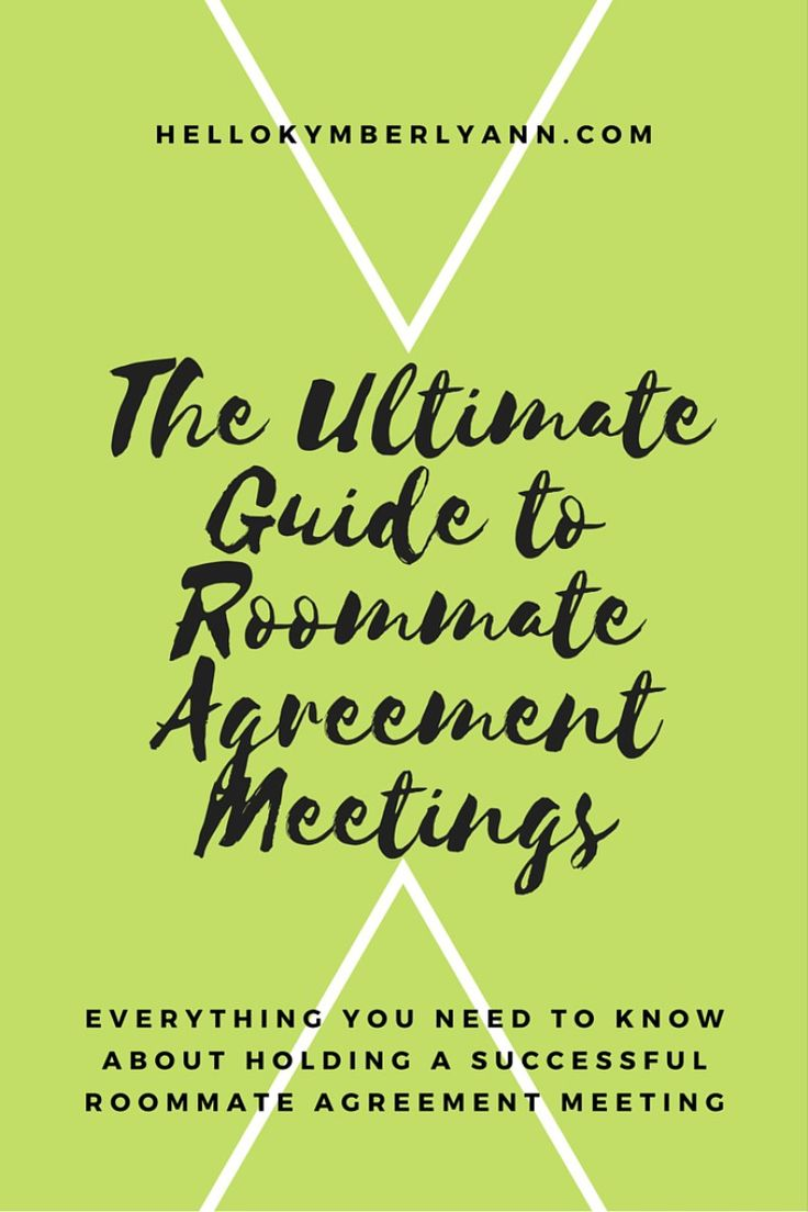 The Ultimate guide to Roommate agreement meetings: Everything you need to know about holding a successful roommate agreement meeting