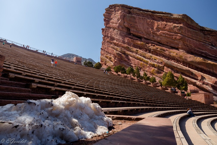 Famous Amphitheater in Red Rocks Park near Denver (Colorado).