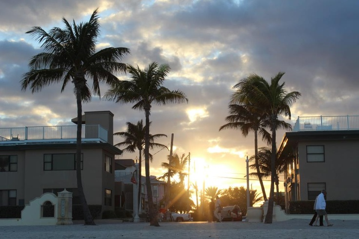 Hollywood Beach, FL... I think I recognize this place ;) Right by Thomas' grandpa's house!